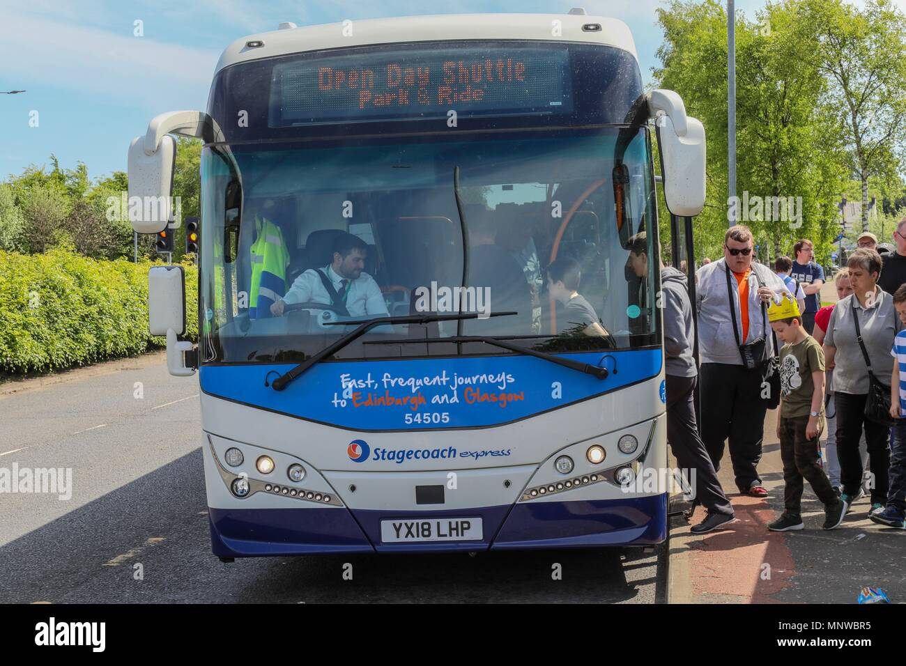 Fife, UK, 19 May 2018  Stagecoach bus depot, Dunfermline