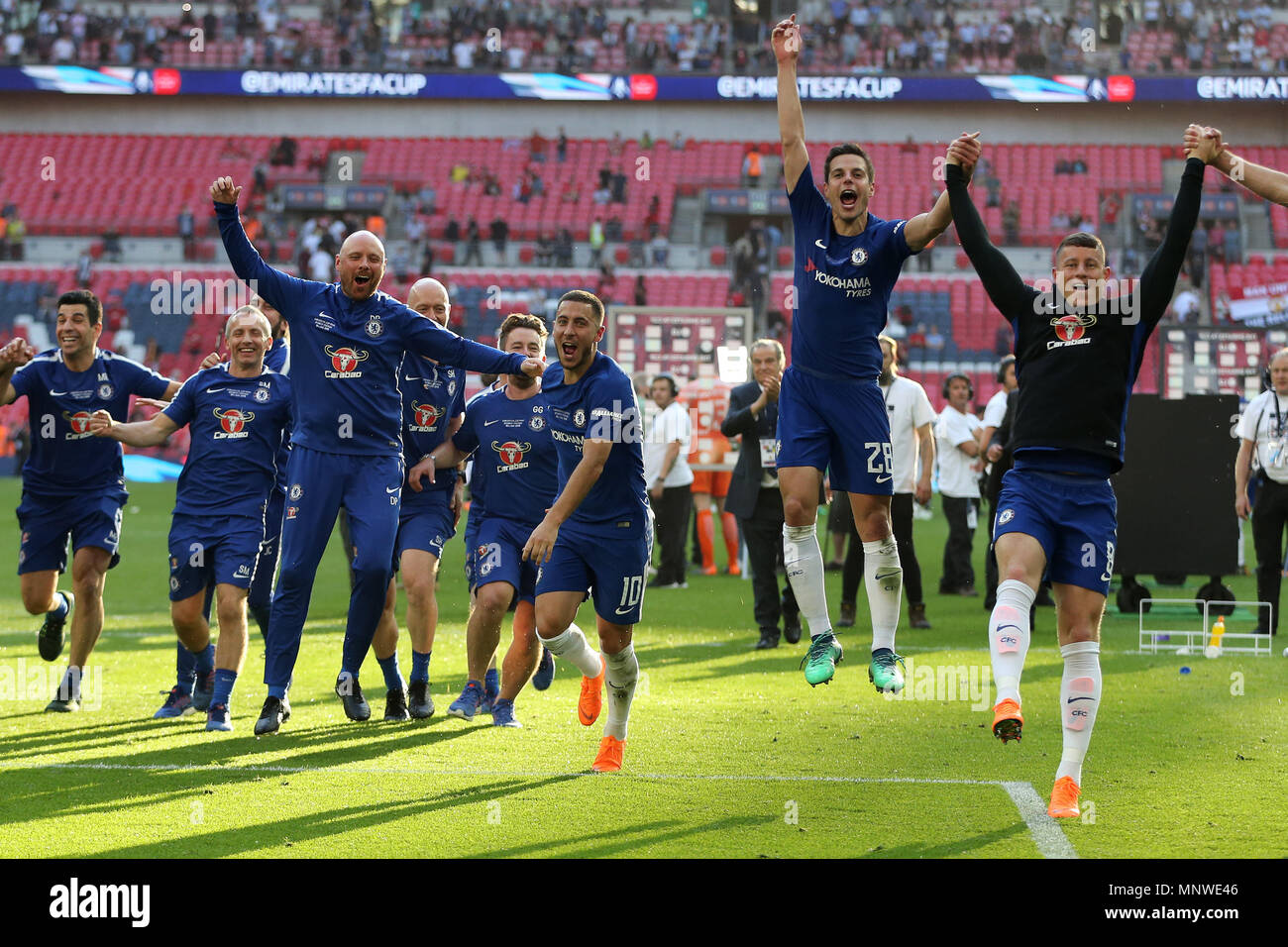 Eden Hazard Of Chelsea C Leads The Celebrations After The