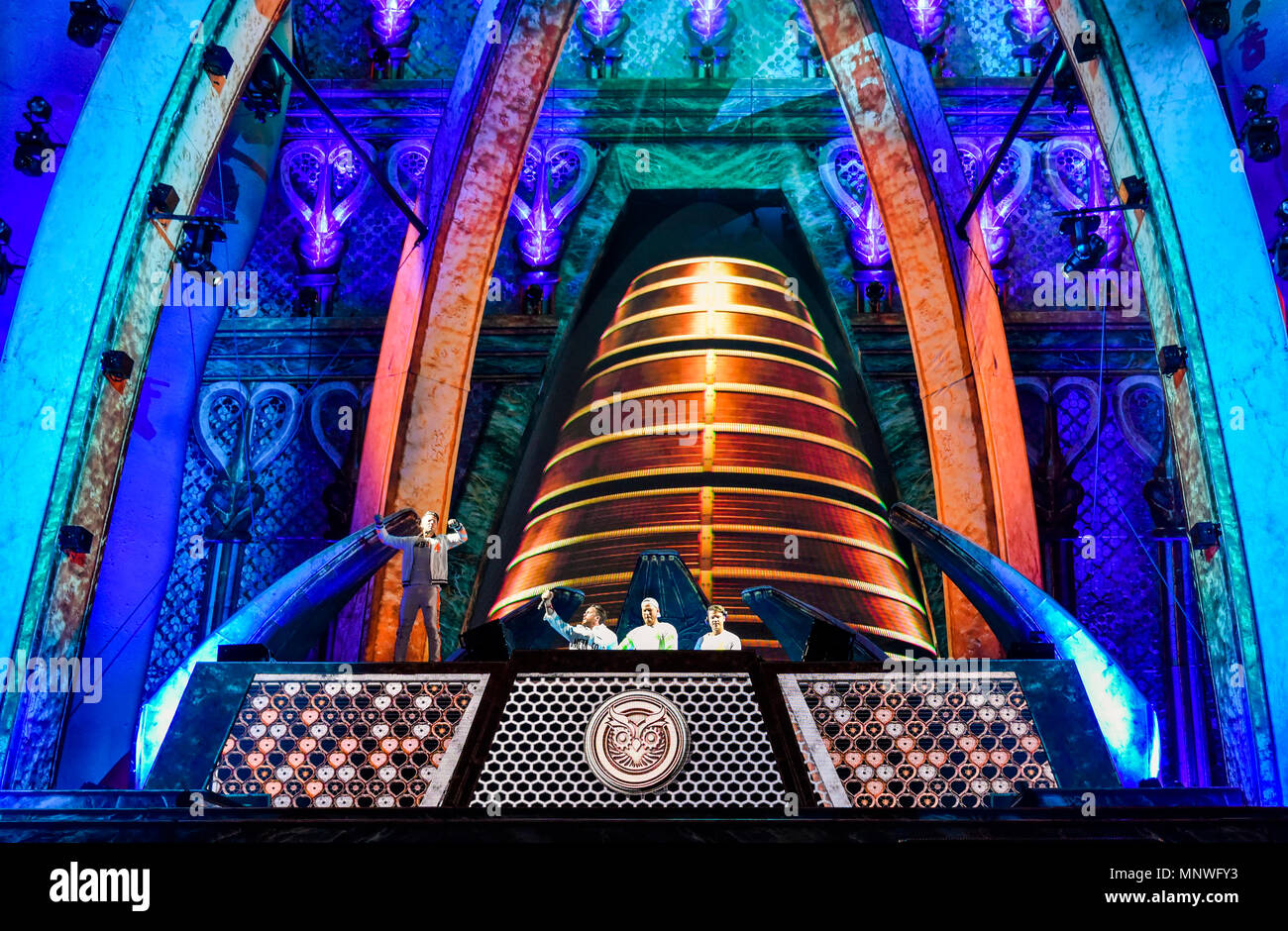 Las Vegas, Nevada, May 18, 2018, Firebeatz vs Dubvision on the Kinetic Field Stage at Electric Daisy Carnival, edc festival, Day 1, Credit: Ken Howard Images/Alamy Live News - Stock Image
