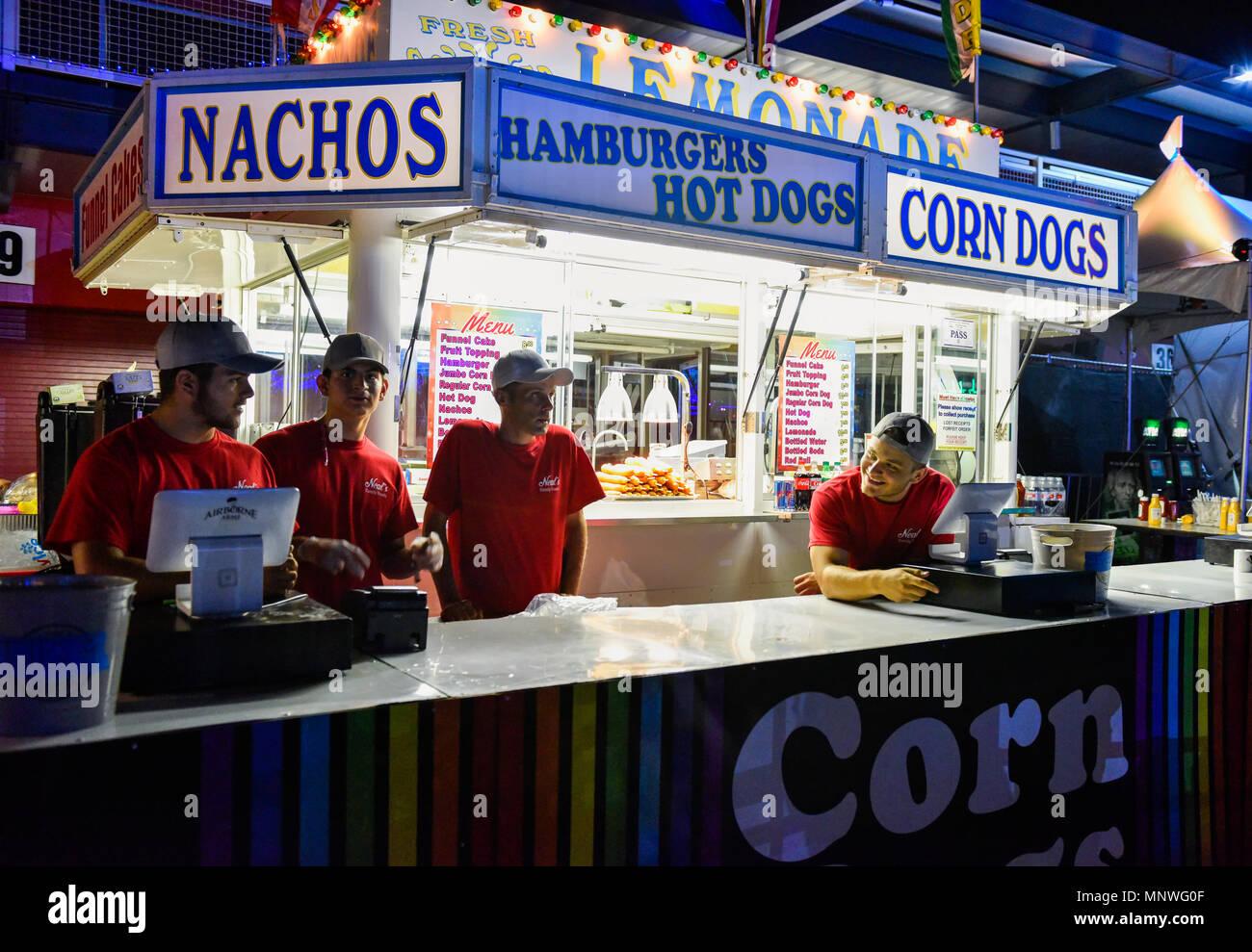 Las Vegas Nevada May 18 2018 Food Vendor At The Electric
