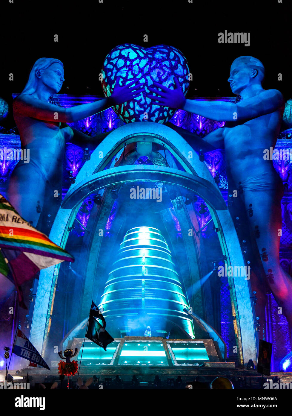 Las Vegas, Nevada, May 18, 2018, Joyryde performing on the Kinetic Field Stage at the Electric Daisy Carnival, edc festival, Day 1, Credit: Ken Howard Images/Alamy Live News - Stock Image