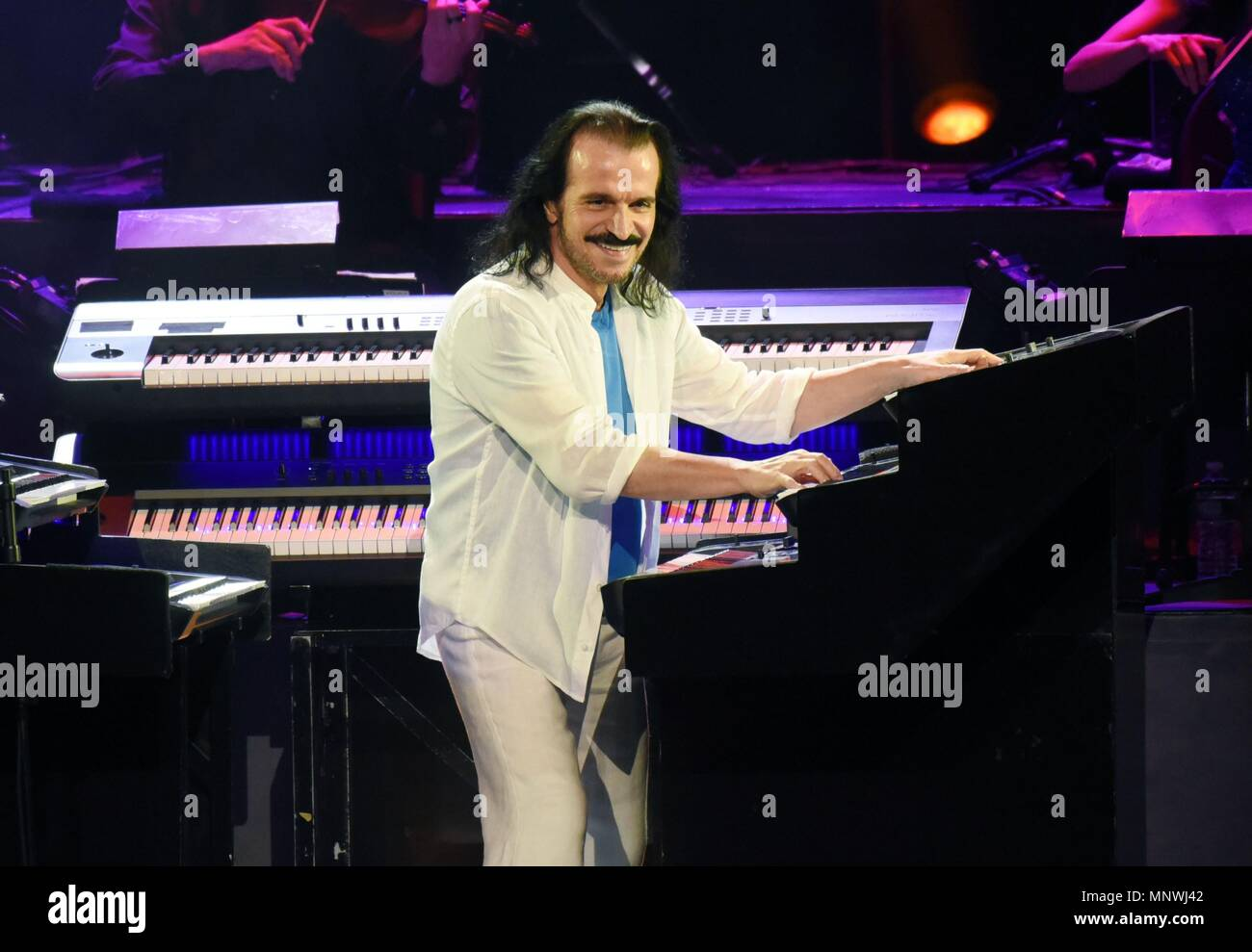 New York, NY, USA  19th May, 2018  Yanni on stage for Yanni