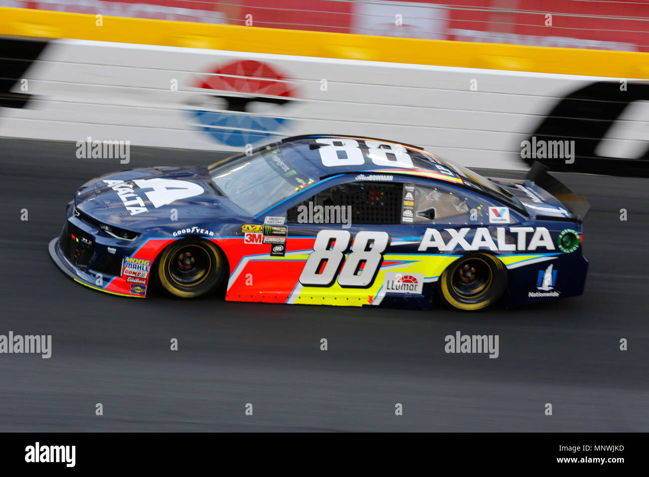 Concord NC USA 19th May 2018 Monster Energy NASCAR Cup Series Driver Alex Bowman 88 Races Off Of Turn Four During The Open Race In