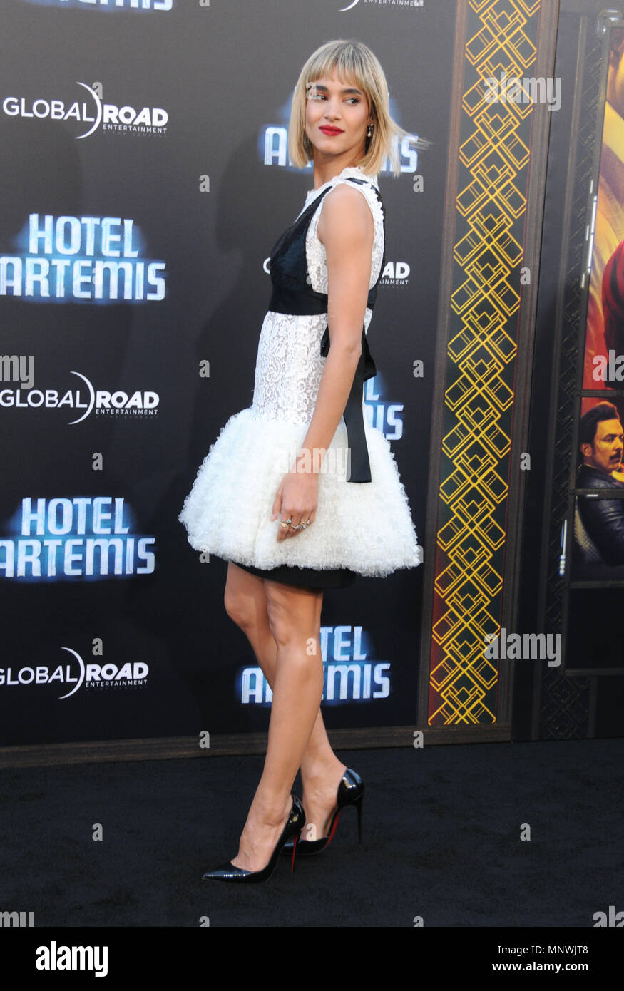Actress Sofia Boutella Attends The Los Angeles Premeire Of Hotel Artemis On May 19 2018 At Regency Bruin Westwood Village Theatre In