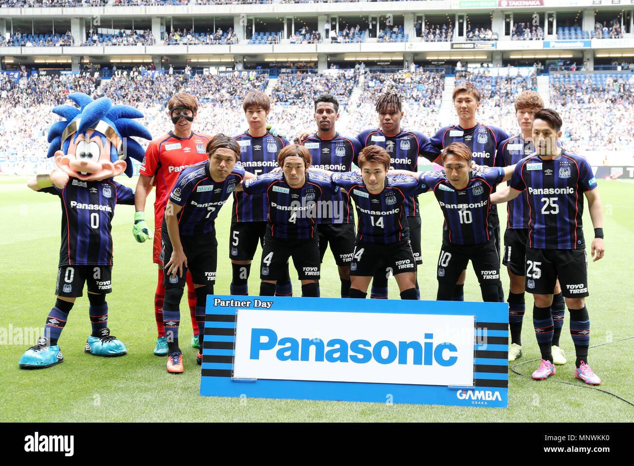Osaka Japan 19th May 2018 Gamba Osaka Team Group Line Up Football Soccer 2018 J1 League