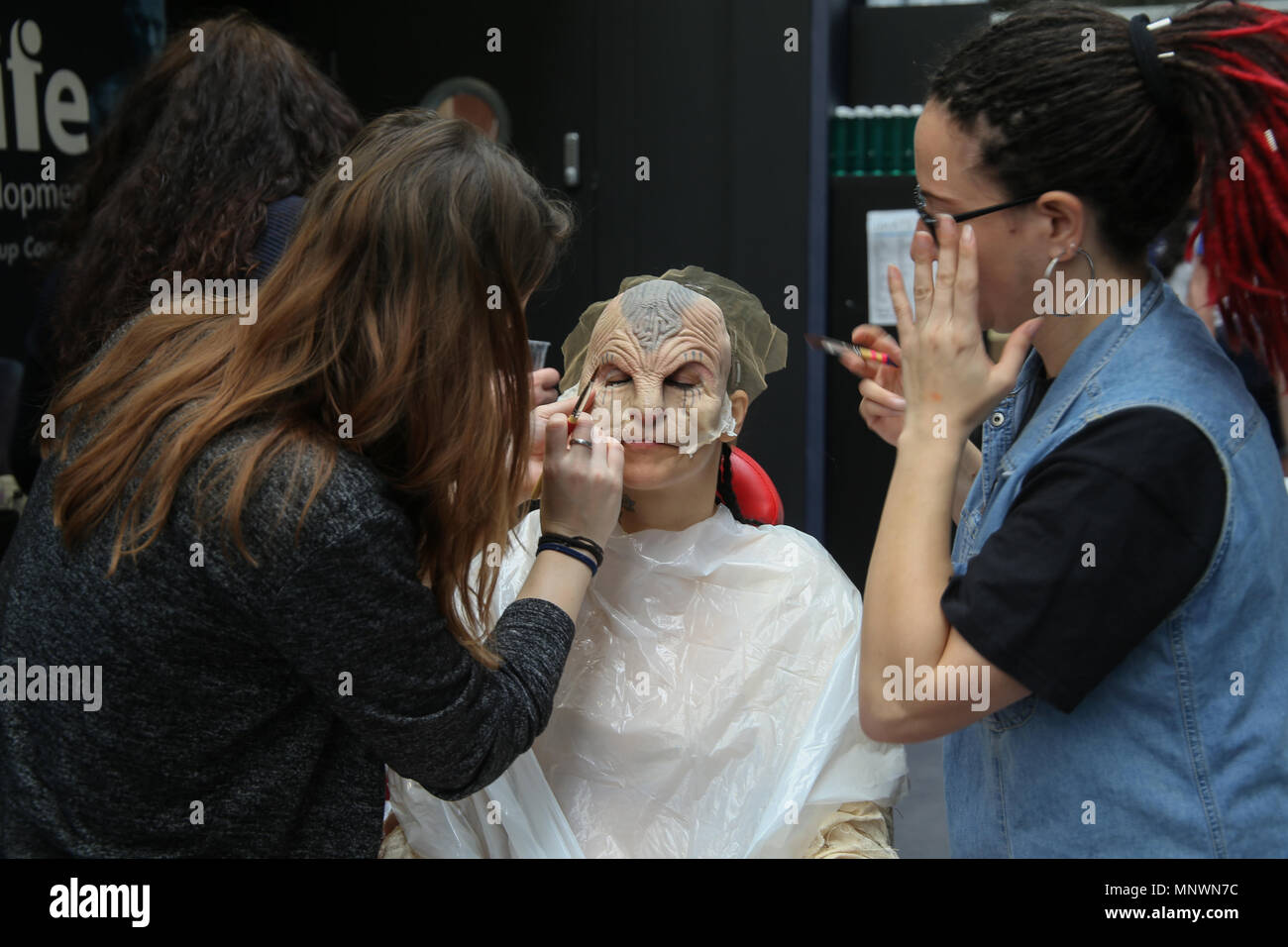 London, UK. 20 May 2018 IMAT's International Make Up artists show, produced by Make-Up Artist magazine,IMATS is the make-up world's biggest gathering models ...