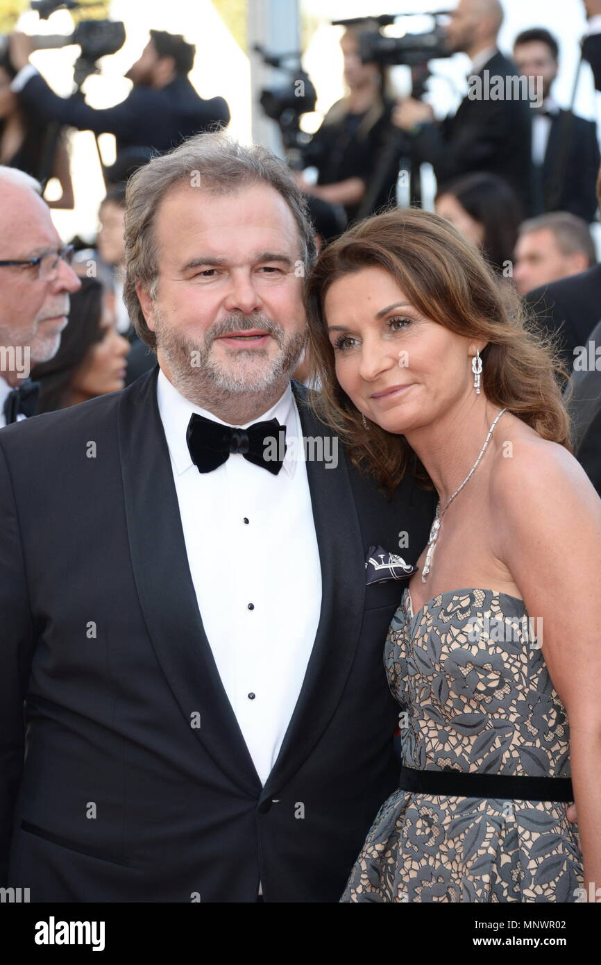 Cannes, France. 19th May, 2018. CANNES, FRANCE - MAY 19: Pierre Herme and Valerie Franceschi attend the Closing Ceremony and the screening of 'The Man Who Killed Don Quixote' during the 71st annual Cannes Film Festival at Palais des Festivals on May 19, 2018 in Cannes, France Credit: Frederick Injimbert/ZUMA Wire/Alamy Live News - Stock Image
