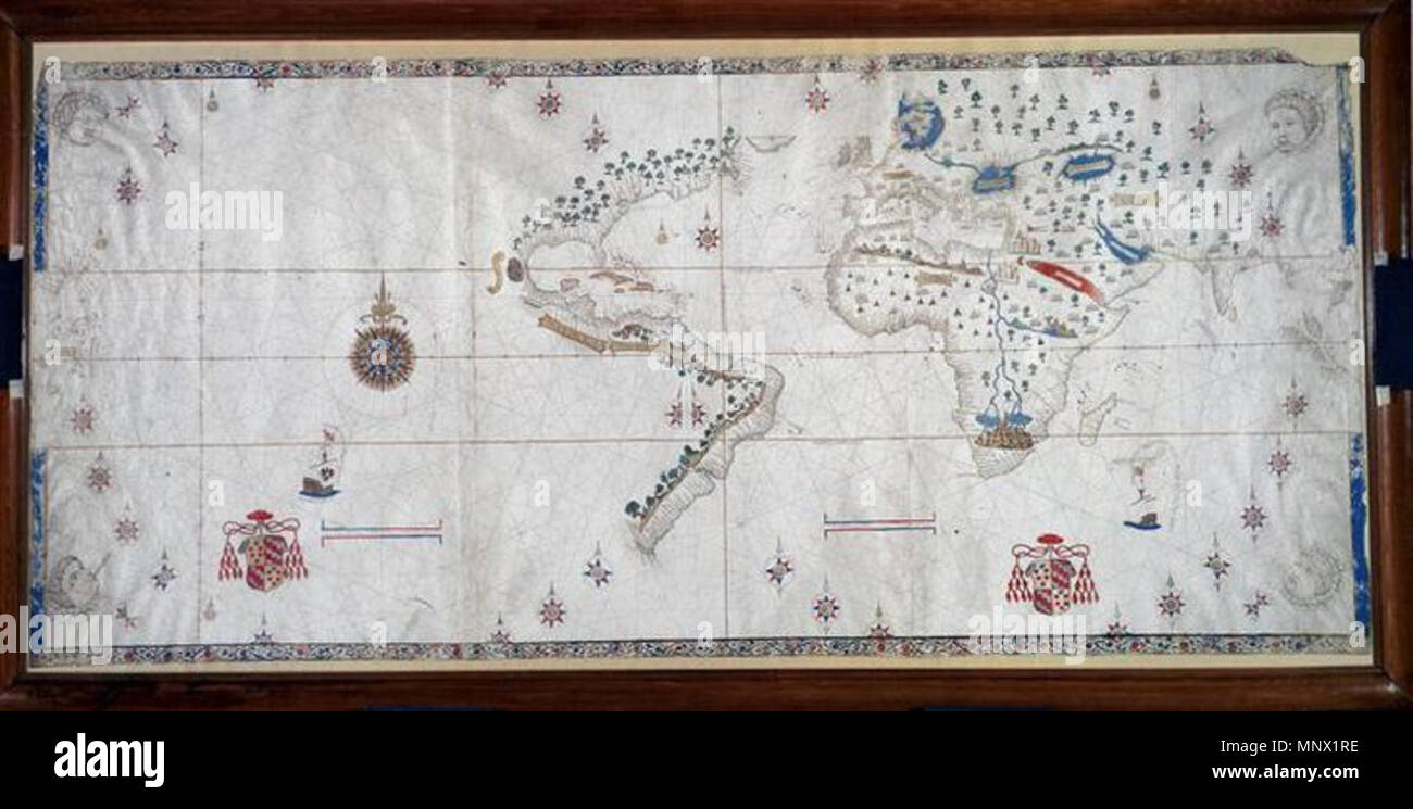 English a world map from 1526 which shows the spanish view of the english a world map from 1526 which shows the spanish view of the earths surface at the time and includes the eastern coasts of north and south america gumiabroncs Gallery