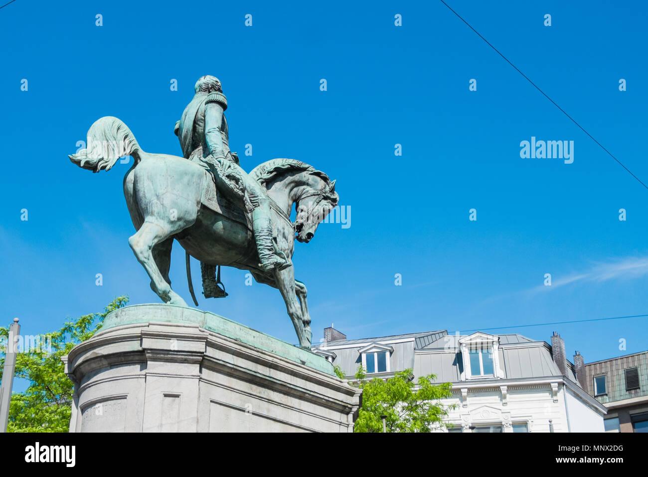 statue of koning leopold, antwerp, belgium Stock Photo