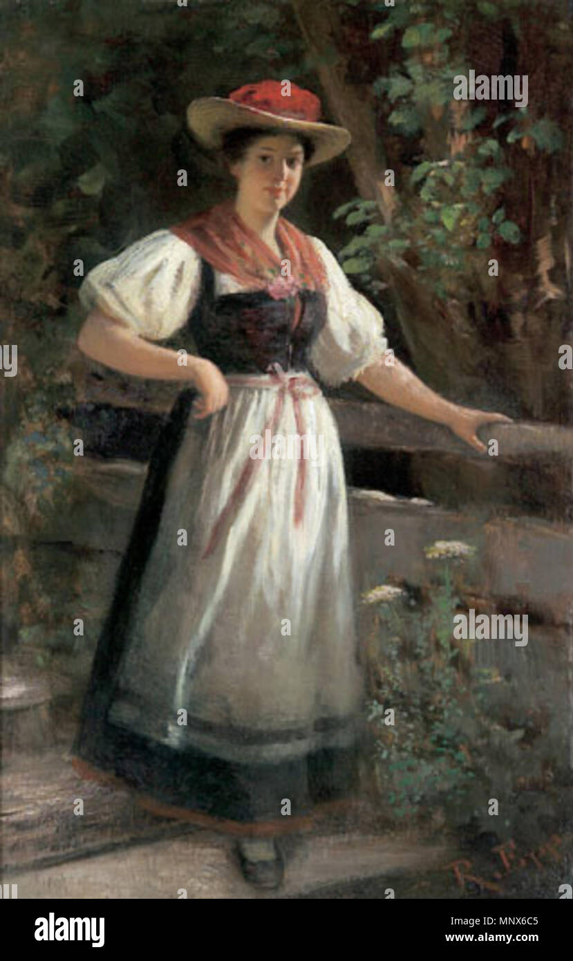 511bd573c0d3d Erð . Rudolf Epp, Schwarzwälderin in Gutacher Tracht . circa 1890 ...