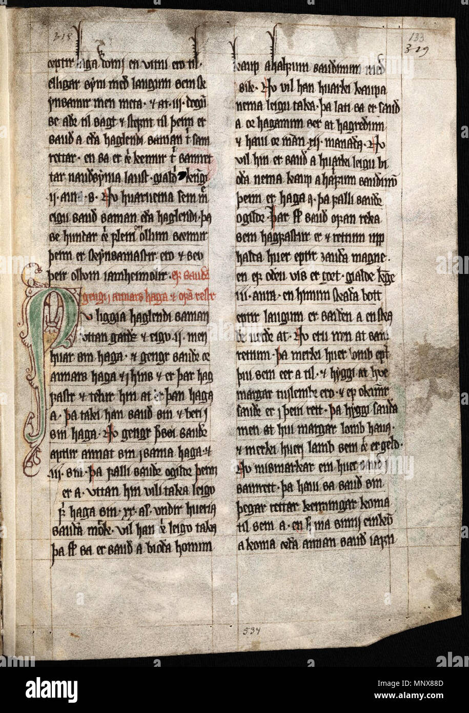 The Sheep Letter for the Faroe Islands of 24 June 1298, in the 'Book of  Lund'. 24 June 1298. Unknown 1114 Sheep Letter, p 2
