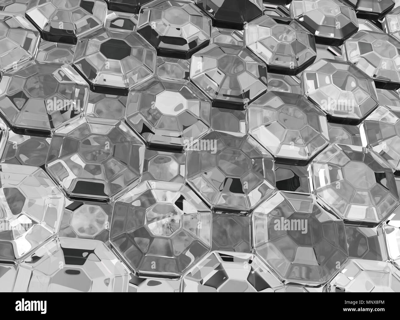 Glass Diamond Artificial Jewel Surface Close 3d Illustration Horizontal Texture Wallpaper Background