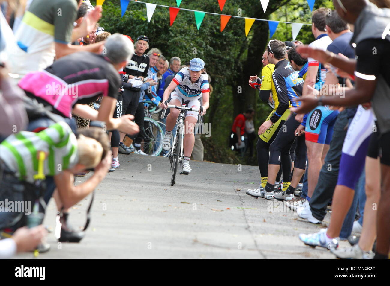 UK - Cycling - Bec Cycling Club 56th Annual Open Hill Climb - Stock Image
