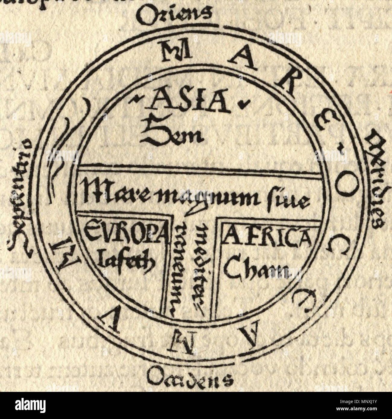 Oldest Known World Map.T And O Style Mappa Mundi Map Of The Known World From The First