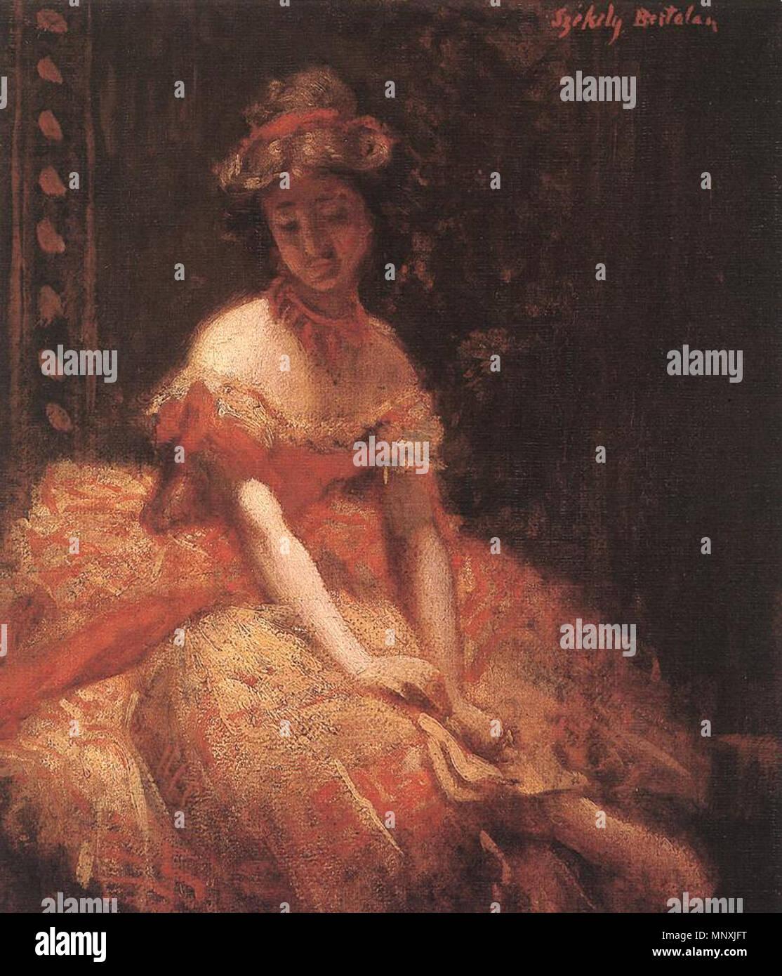 Dancer (study)   circa 1875.   1159 Tancosn - Stock Image