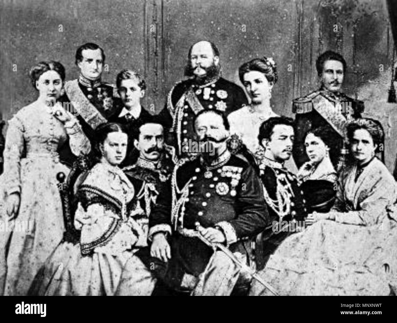 English: The Italian Royal Family in 1867   1867  Unknown 1176 The