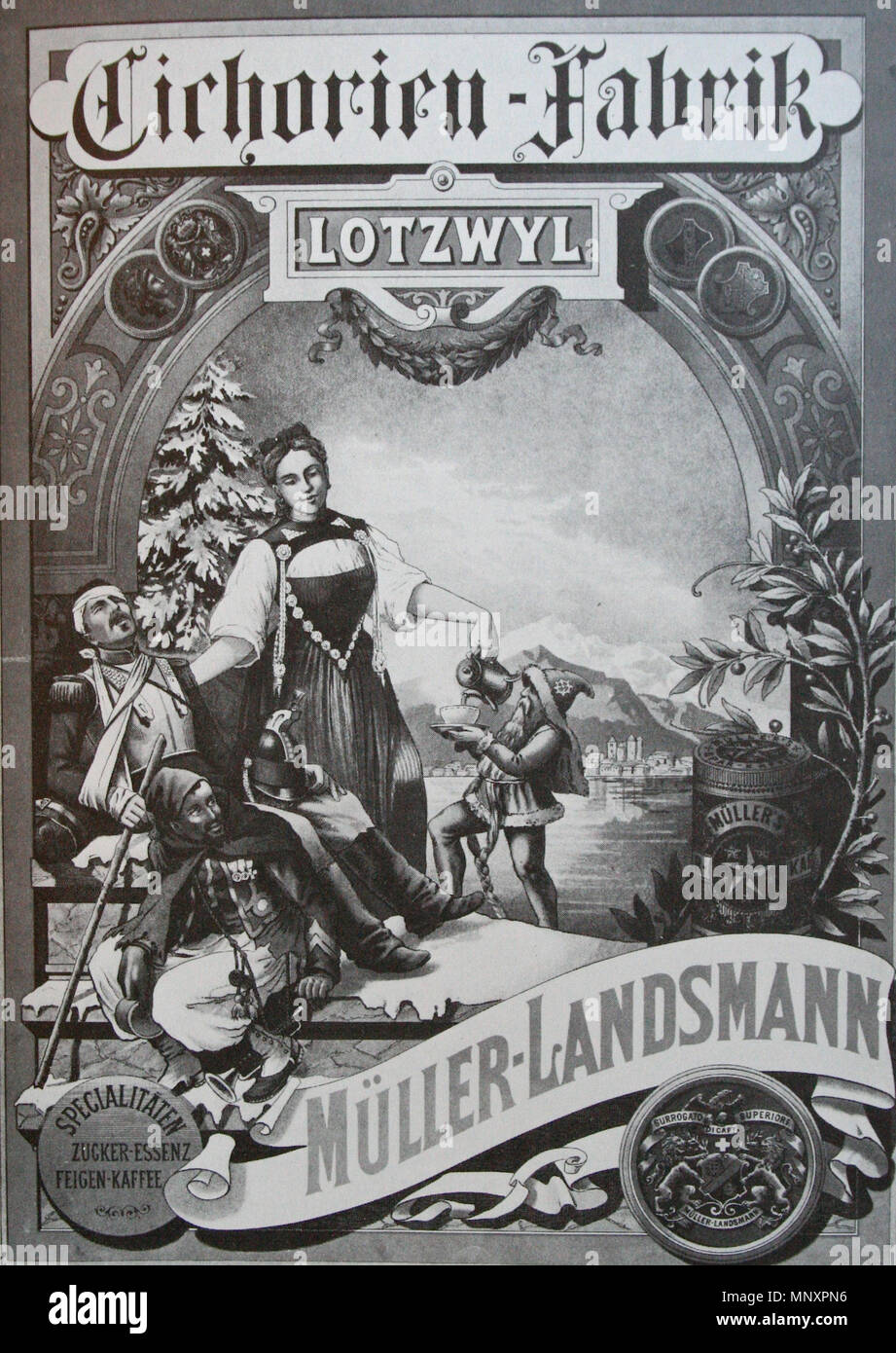 . Reklameplakat von Karl Jauslin, Chromolithografie, 63x48.5 cm . upload Januar 2009.   708 Jauslin Reklameplakat - Stock Image