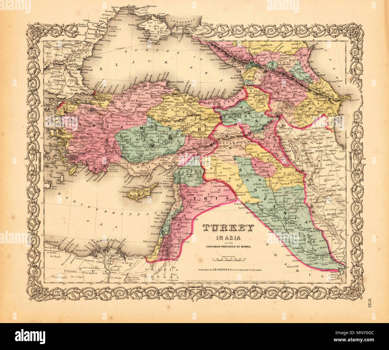English Turkey In Asia And The Caucasian Provinces Of Russia New