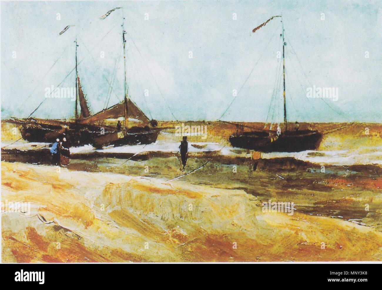 The Beach of Scheveningen / Beach at Scheveningen in calm weather