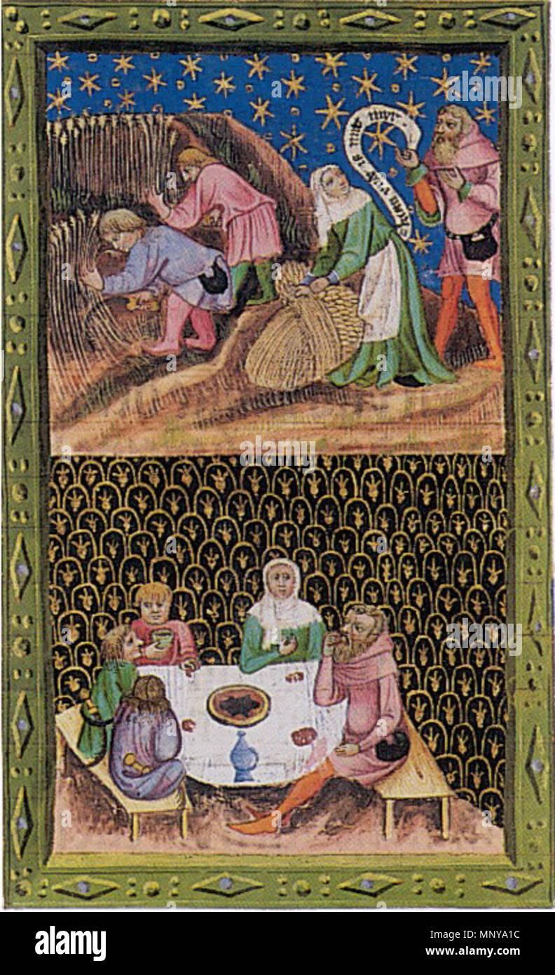 . English: Bible of Wenceslaus IV. 1389. Anonymous 1255 Wenzelsbibel - Stock Image
