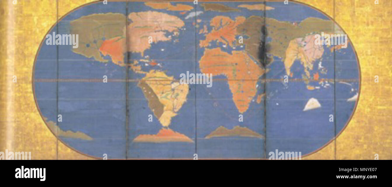 World map 1600 stock photos world map 1600 stock images alamy english world map jotokuji fukui fukui japan publicscrutiny Image collections