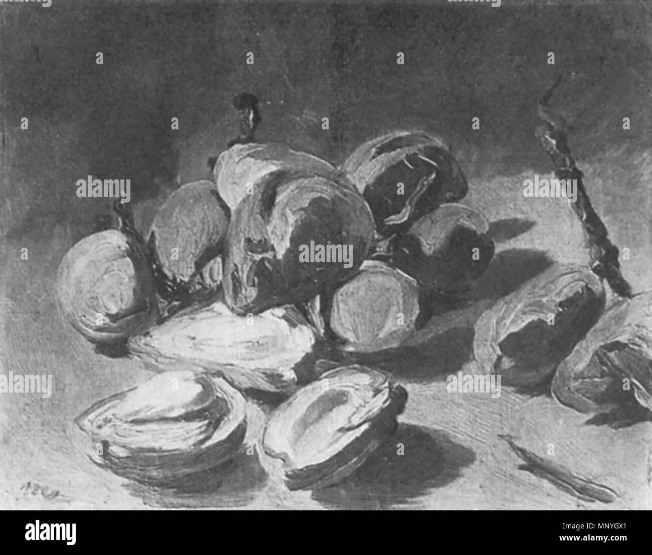 1289 Édouard Manet - Nature morte, amandes vertes (RW 142) - Stock Image
