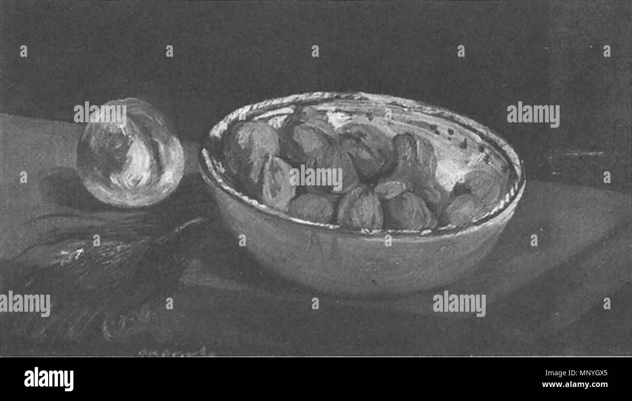 1289 Édouard Manet - Noix dans un saladier (RW 119) - Stock Image