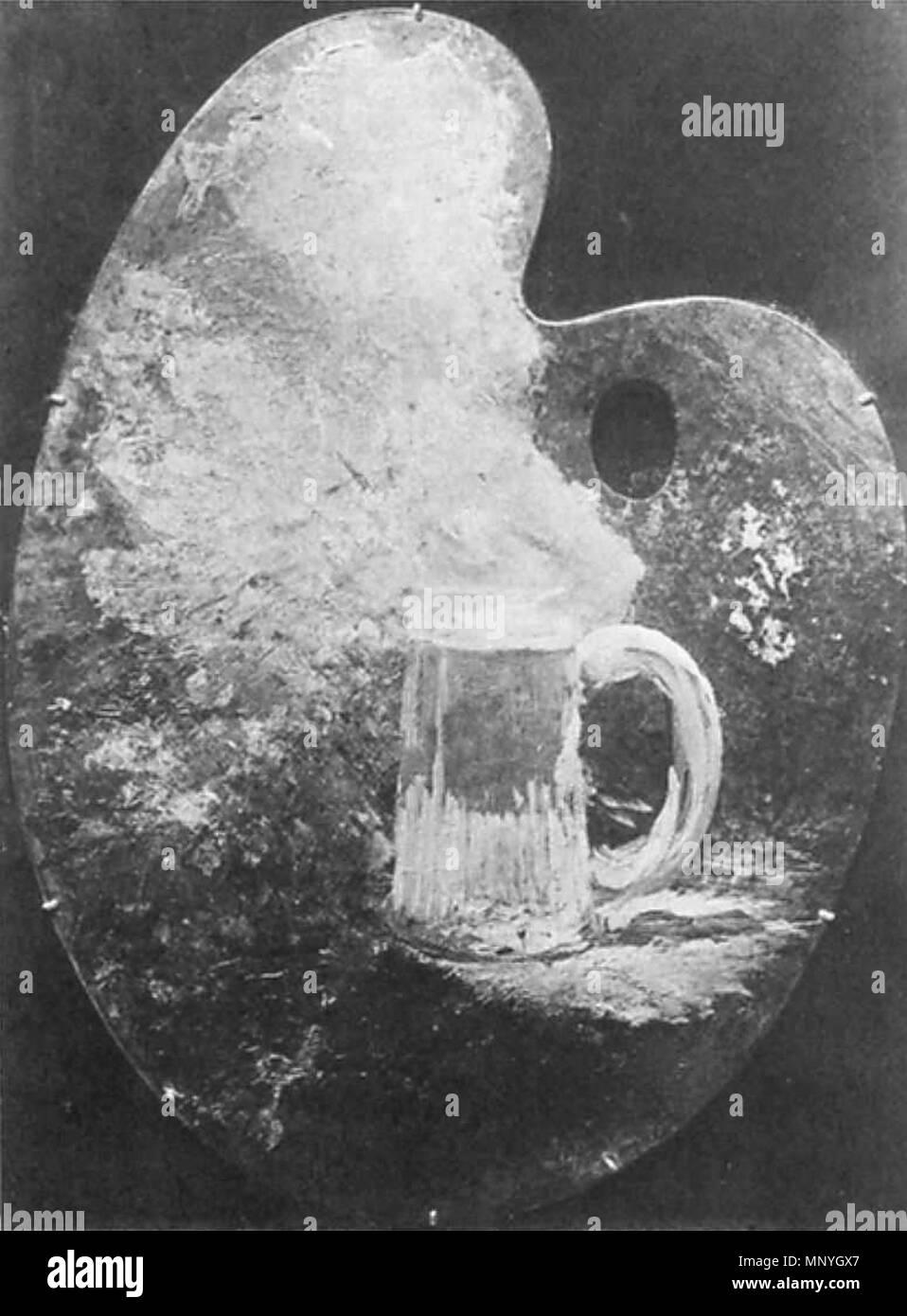 1289 Édouard Manet - Palette au bock (RW 187) - Stock Image