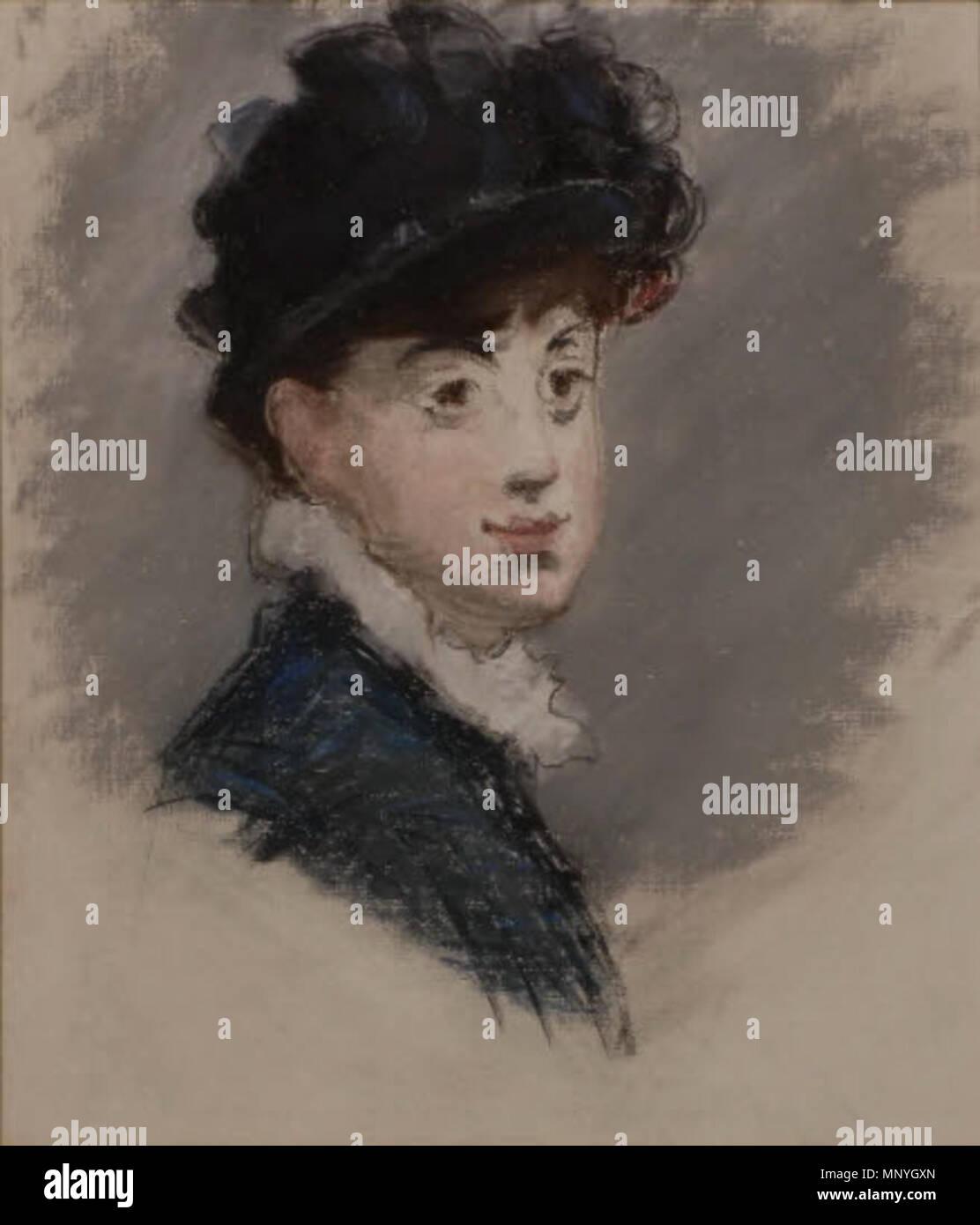 1289 Édouard Manet - Portrait de femme (RW II 87) - Stock Image