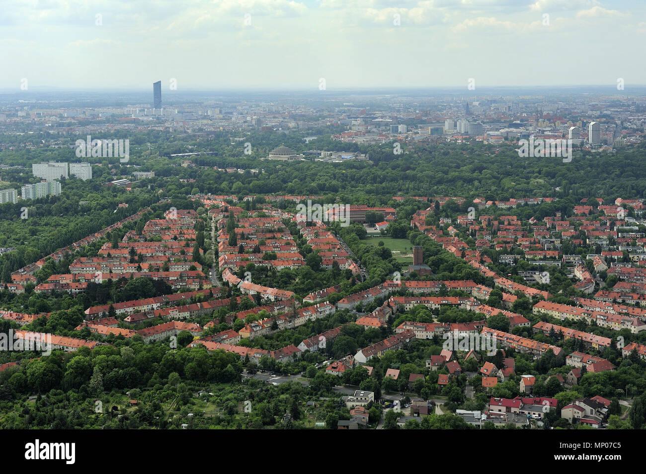 Wroclaw, aero, air, dolnoslaskie, architecture, old town, silesia, travel, poland, europe, landscape - Stock Image
