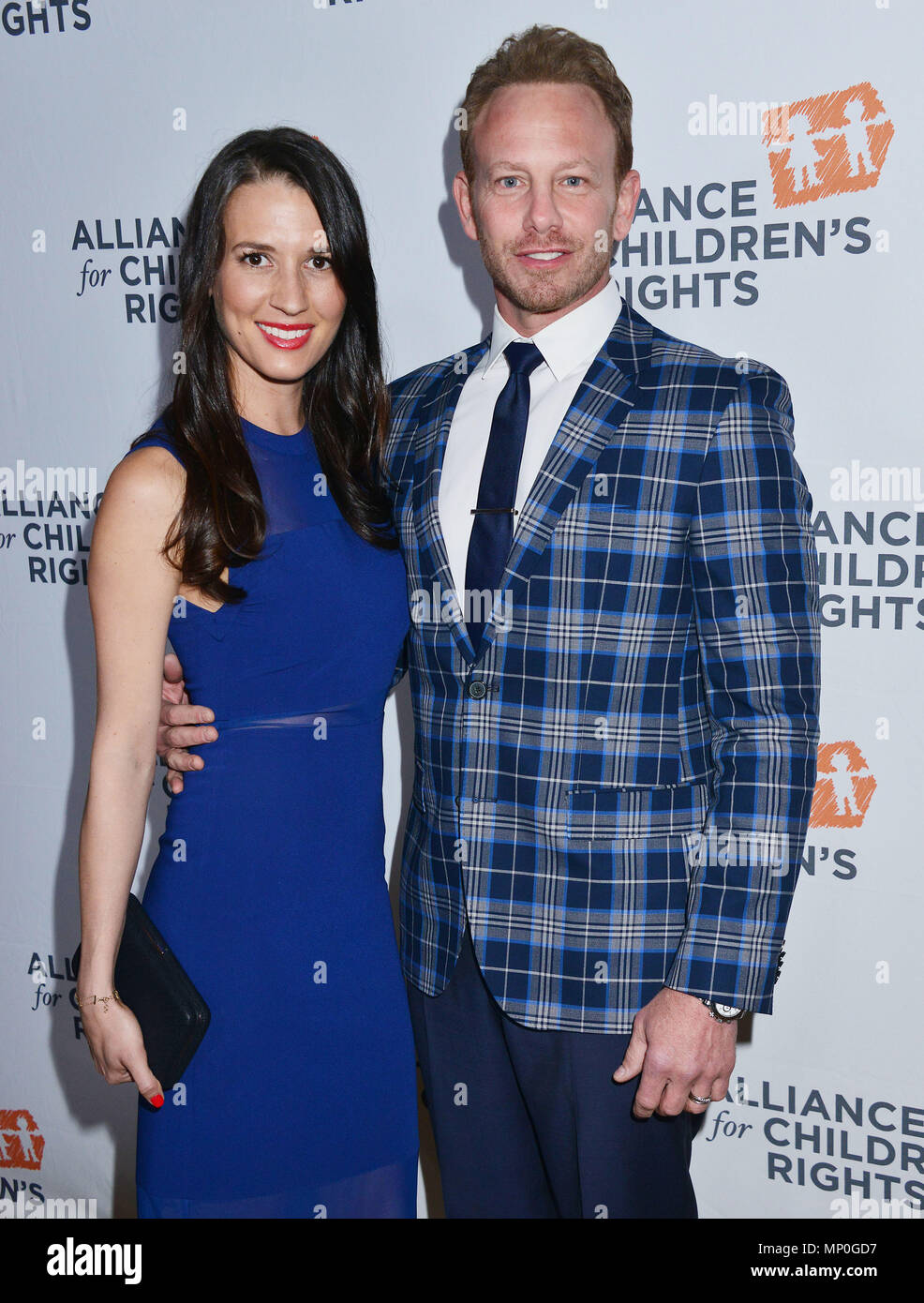 Ian Ziering, Erin Kristine Ludwig 010 arriving The Alliance for ChildrenÕs RightsÕ 24th Annual Dinner at the Beverly Hilton Hotel in Los Angeles. March 10, 2016.Ian Ziering, Erin Kristine Ludwig 010 ------------- Red Carpet Event, Vertical, USA, Film Industry, Celebrities,  Photography, Bestof, Arts Culture and Entertainment, Topix Celebrities fashion /  Vertical, Best of, Event in Hollywood Life - California,  Red Carpet and backstage, USA, Film Industry, Celebrities,  movie celebrities, TV celebrities, Music celebrities, Photography, Bestof, Arts Culture and Entertainment,  Topix, vertical,  - Stock Image