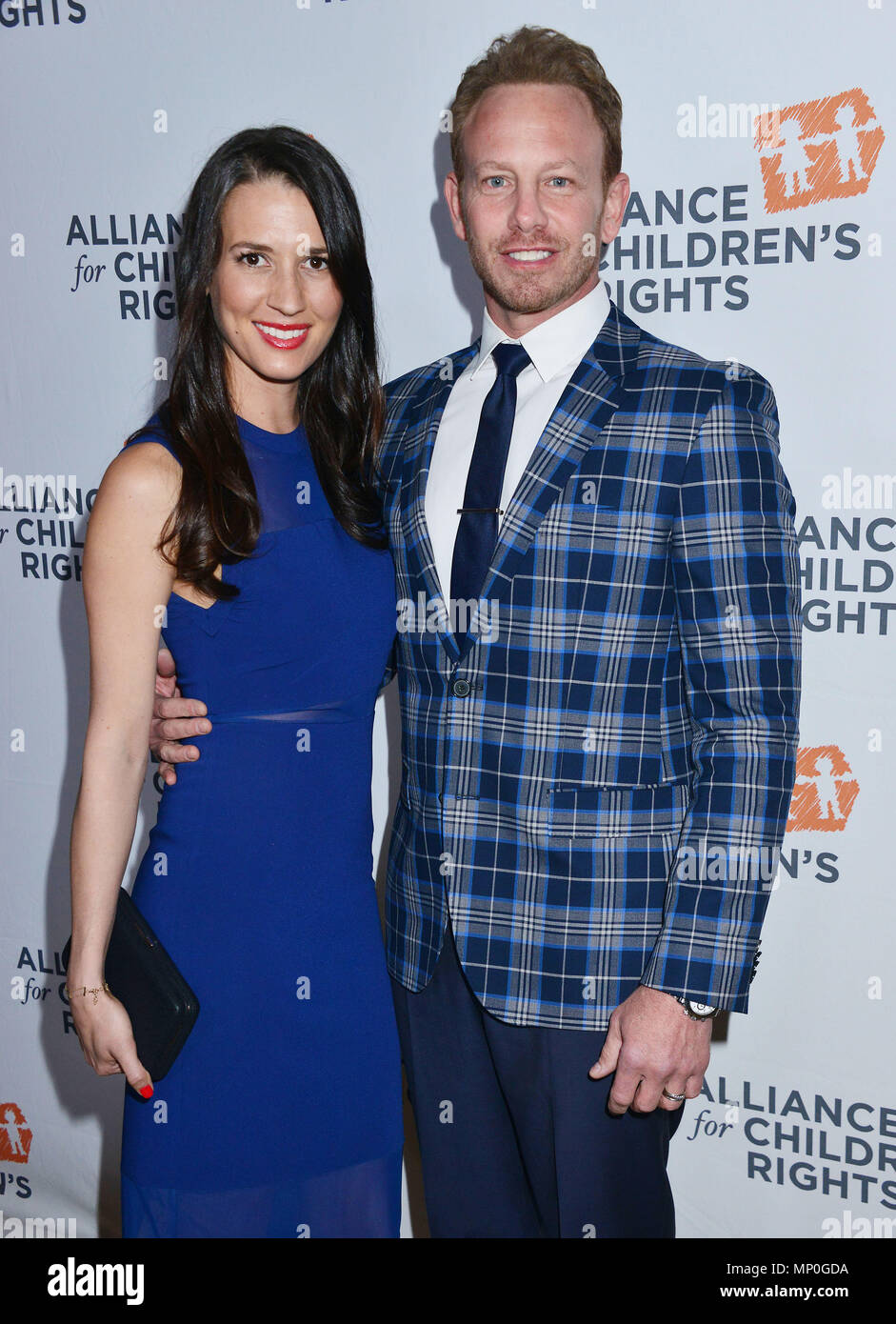 Ian Ziering, Erin Kristine Ludwig 011 arriving The Alliance for ChildrenÕs RightsÕ 24th Annual Dinner at the Beverly Hilton Hotel in Los Angeles. March 10, 2016.Ian Ziering, Erin Kristine Ludwig 011 ------------- Red Carpet Event, Vertical, USA, Film Industry, Celebrities,  Photography, Bestof, Arts Culture and Entertainment, Topix Celebrities fashion /  Vertical, Best of, Event in Hollywood Life - California,  Red Carpet and backstage, USA, Film Industry, Celebrities,  movie celebrities, TV celebrities, Music celebrities, Photography, Bestof, Arts Culture and Entertainment,  Topix, vertical,  - Stock Image