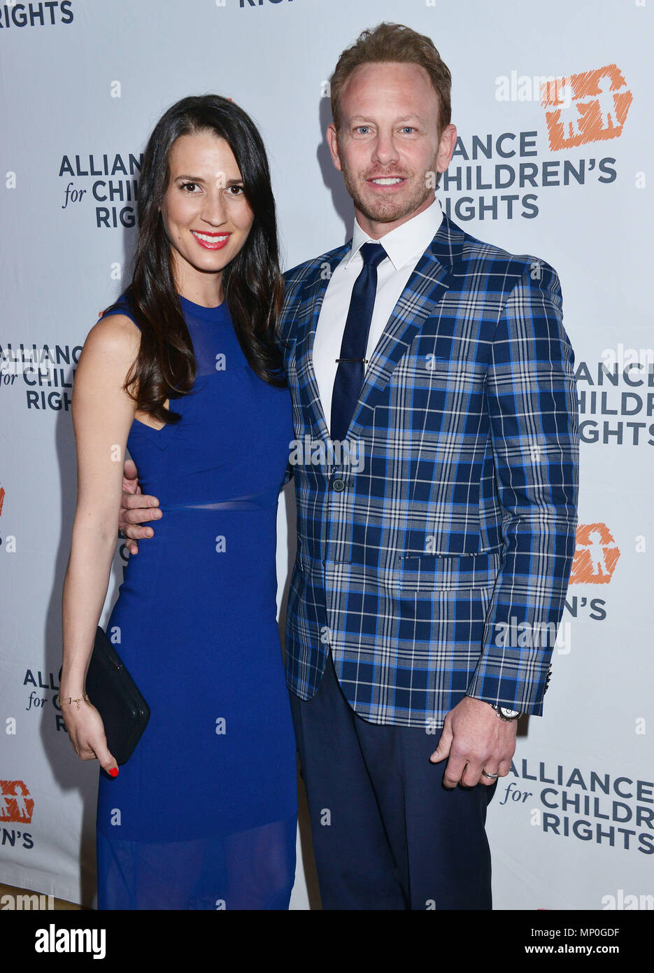 Ian Ziering, Erin Kristine Ludwig 012 arriving The Alliance for ChildrenÕs RightsÕ 24th Annual Dinner at the Beverly Hilton Hotel in Los Angeles. March 10, 2016.Ian Ziering, Erin Kristine Ludwig 012 ------------- Red Carpet Event, Vertical, USA, Film Industry, Celebrities,  Photography, Bestof, Arts Culture and Entertainment, Topix Celebrities fashion /  Vertical, Best of, Event in Hollywood Life - California,  Red Carpet and backstage, USA, Film Industry, Celebrities,  movie celebrities, TV celebrities, Music celebrities, Photography, Bestof, Arts Culture and Entertainment,  Topix, vertical,  - Stock Image