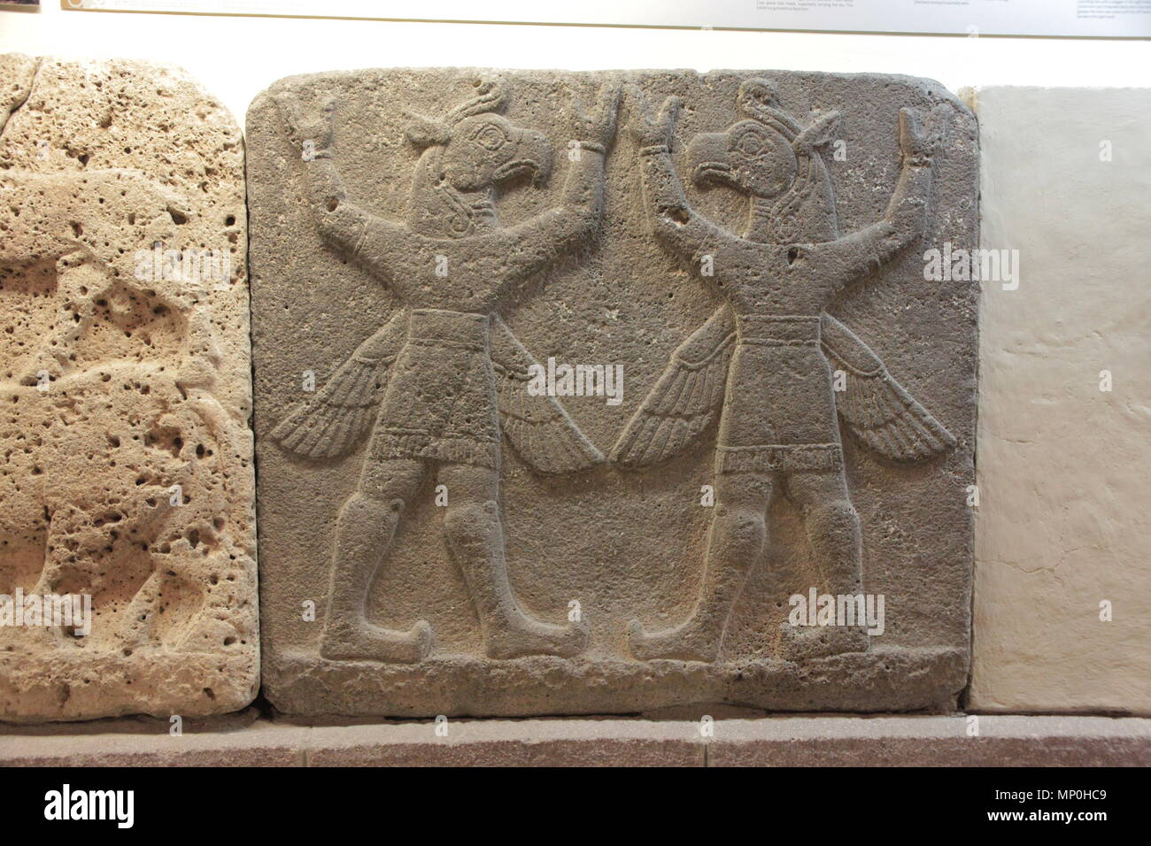 Orthostats of Heralds Wall in Museum of Anatolian Civilizations. Stock Photo