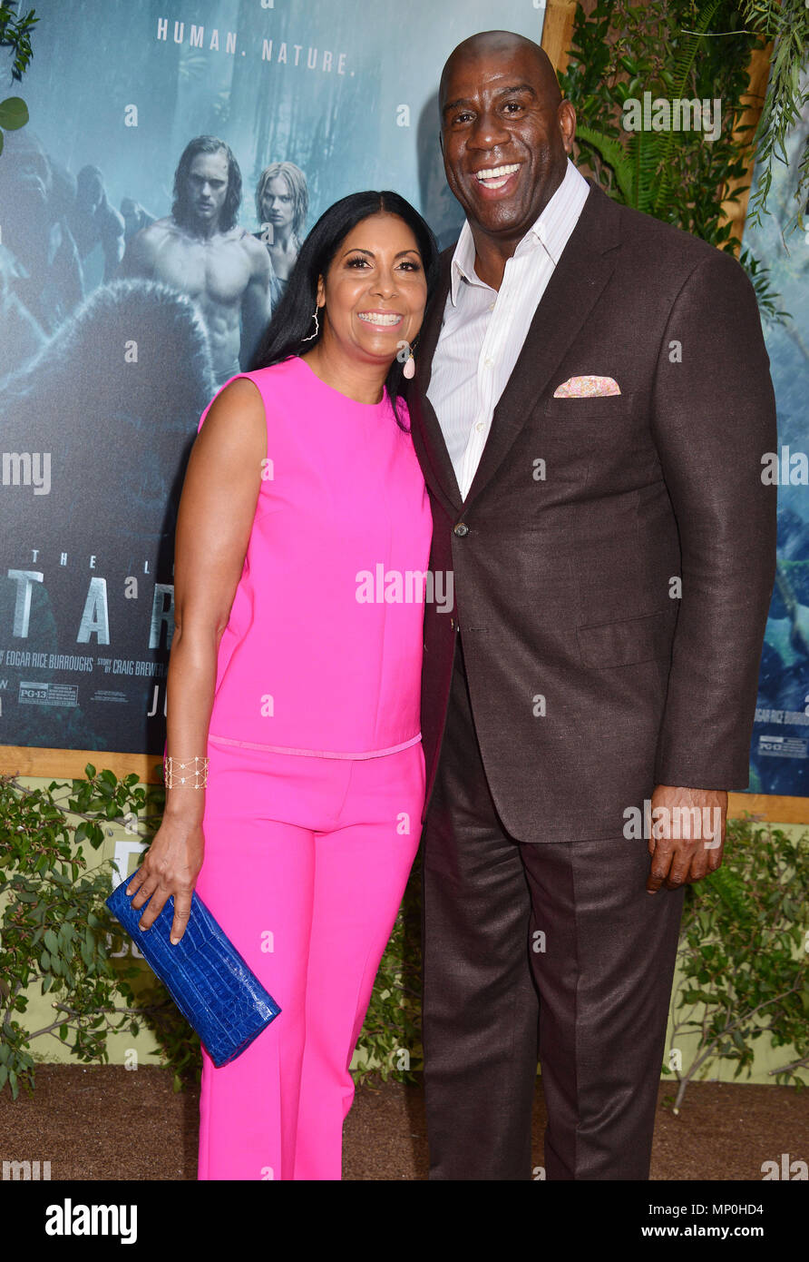 Magic Johnson Wife Cookie 040 At The Legend Of Tarzan Premiere At The Dolby Theatre In Los Angeles June 27 2016 Magic Johnson Wife Cookie 040 Red Carpet Event Vertical Usa Film