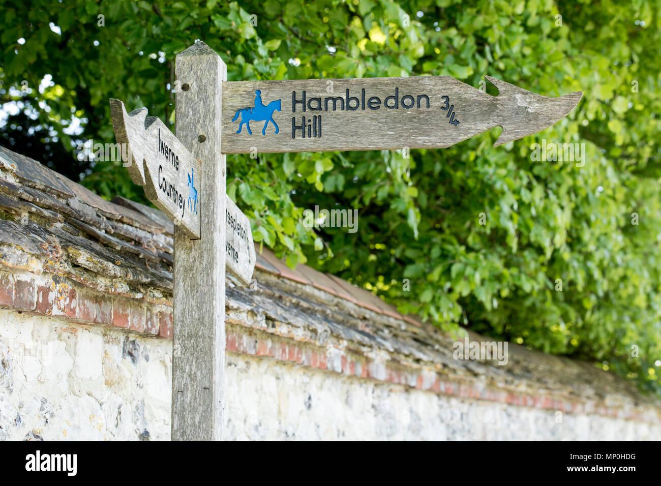 Hambeldon Hill Sign -SSSI - Stock Image