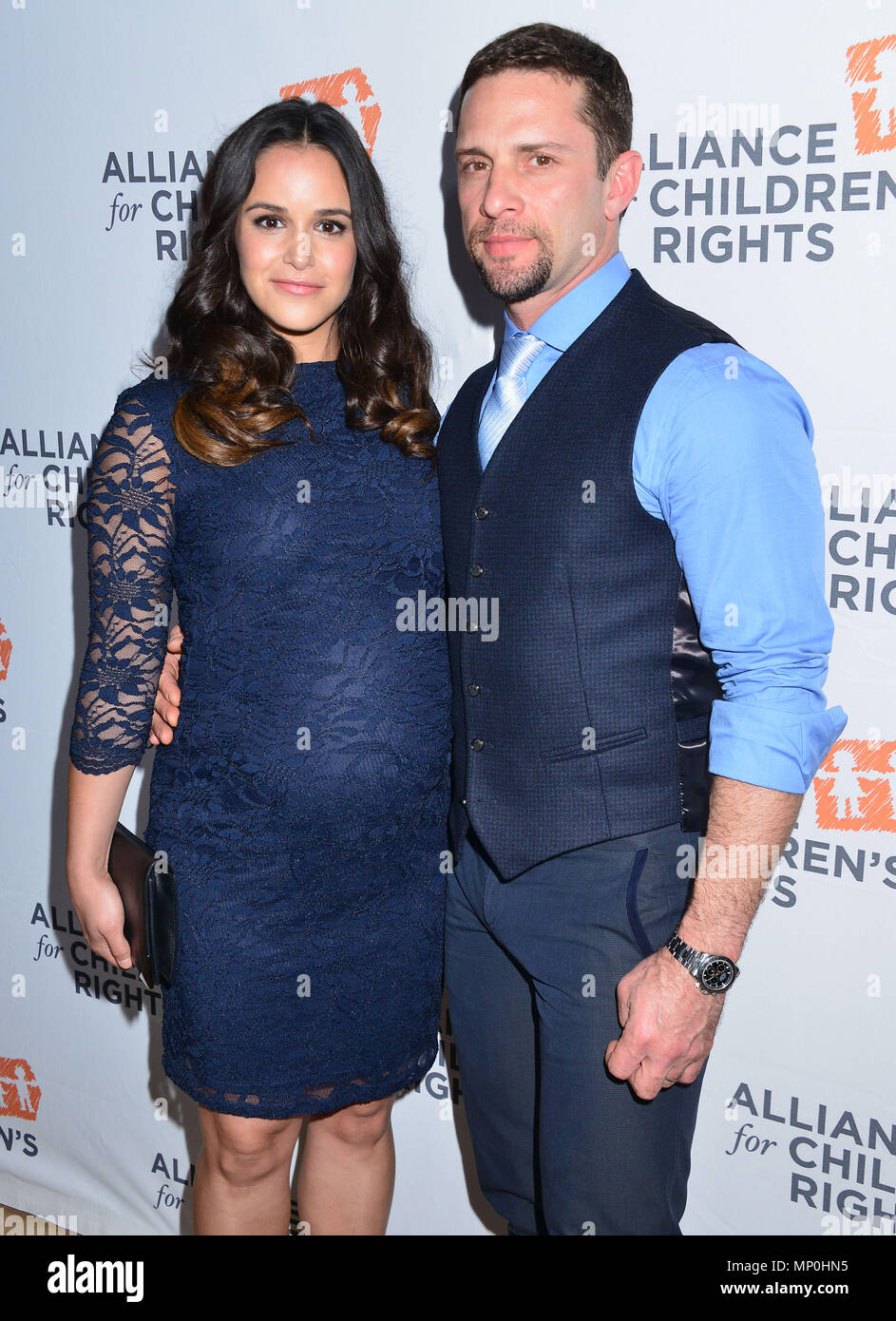 Melissa Fumero, David Fumero 038 arriving The Alliance for ChildrenÕs RightsÕ 24th Annual Dinner at the Beverly Hilton Hotel in Los Angeles. March 10, 2016.Melissa Fumero, David Fumero 038 ------------- Red Carpet Event, Vertical, USA, Film Industry, Celebrities,  Photography, Bestof, Arts Culture and Entertainment, Topix Celebrities fashion /  Vertical, Best of, Event in Hollywood Life - California,  Red Carpet and backstage, USA, Film Industry, Celebrities,  movie celebrities, TV celebrities, Music celebrities, Photography, Bestof, Arts Culture and Entertainment,  Topix, vertical,  family fr - Stock Image
