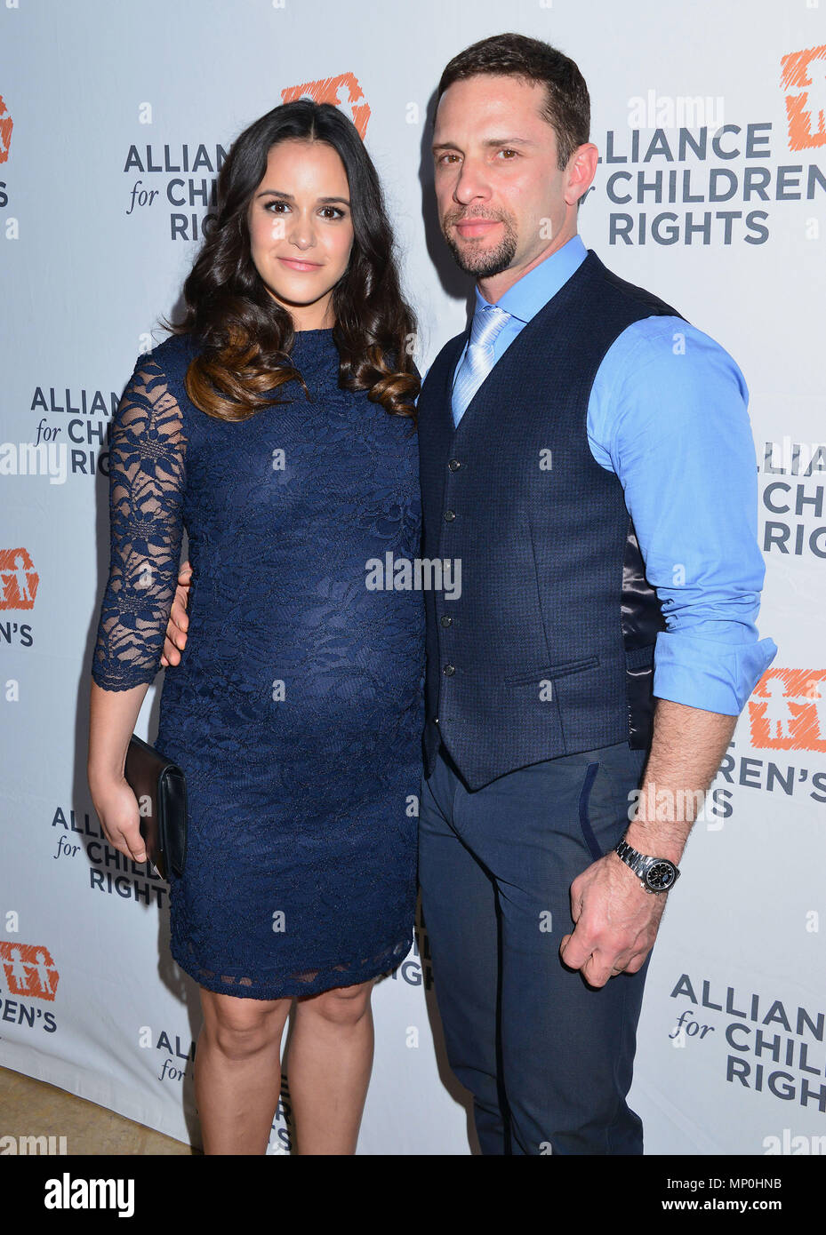 Melissa Fumero, David Fumero 039 arriving The Alliance for ChildrenÕs RightsÕ 24th Annual Dinner at the Beverly Hilton Hotel in Los Angeles. March 10, 2016.Melissa Fumero, David Fumero 039 ------------- Red Carpet Event, Vertical, USA, Film Industry, Celebrities,  Photography, Bestof, Arts Culture and Entertainment, Topix Celebrities fashion /  Vertical, Best of, Event in Hollywood Life - California,  Red Carpet and backstage, USA, Film Industry, Celebrities,  movie celebrities, TV celebrities, Music celebrities, Photography, Bestof, Arts Culture and Entertainment,  Topix, vertical,  family fr - Stock Image