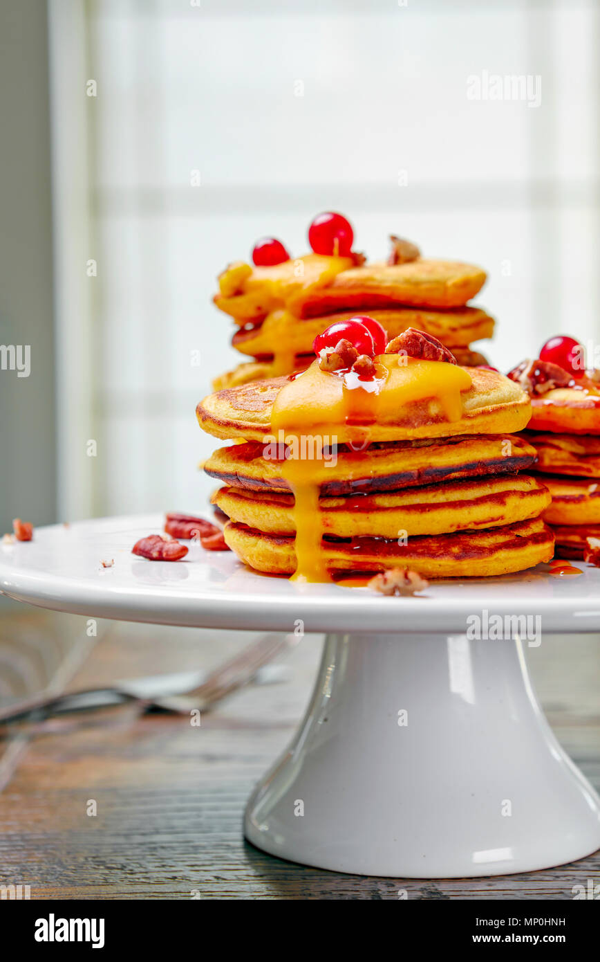 Butternut Squash Pancakes Stock Photo
