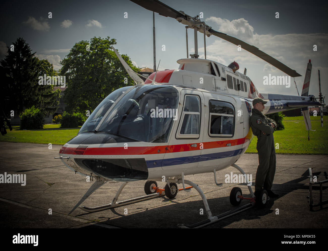 Bell-206 helicopter - Stock Image