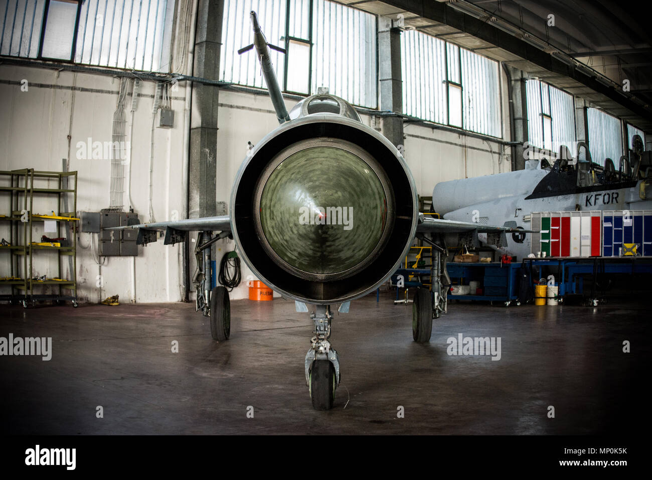 air show MiG-21 - Stock Image
