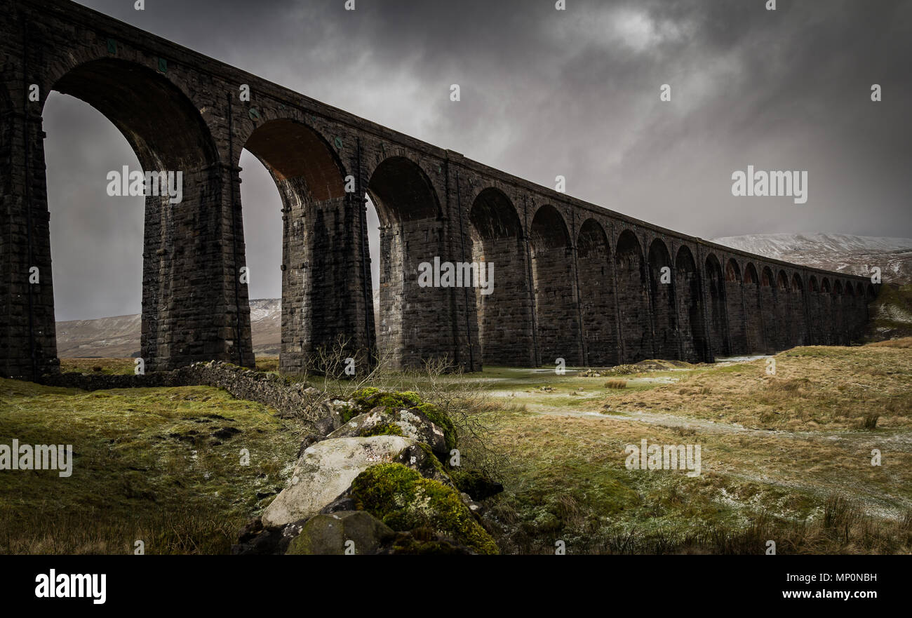 Ribblehead Viaduct, Yorkshire, England. - Stock Image