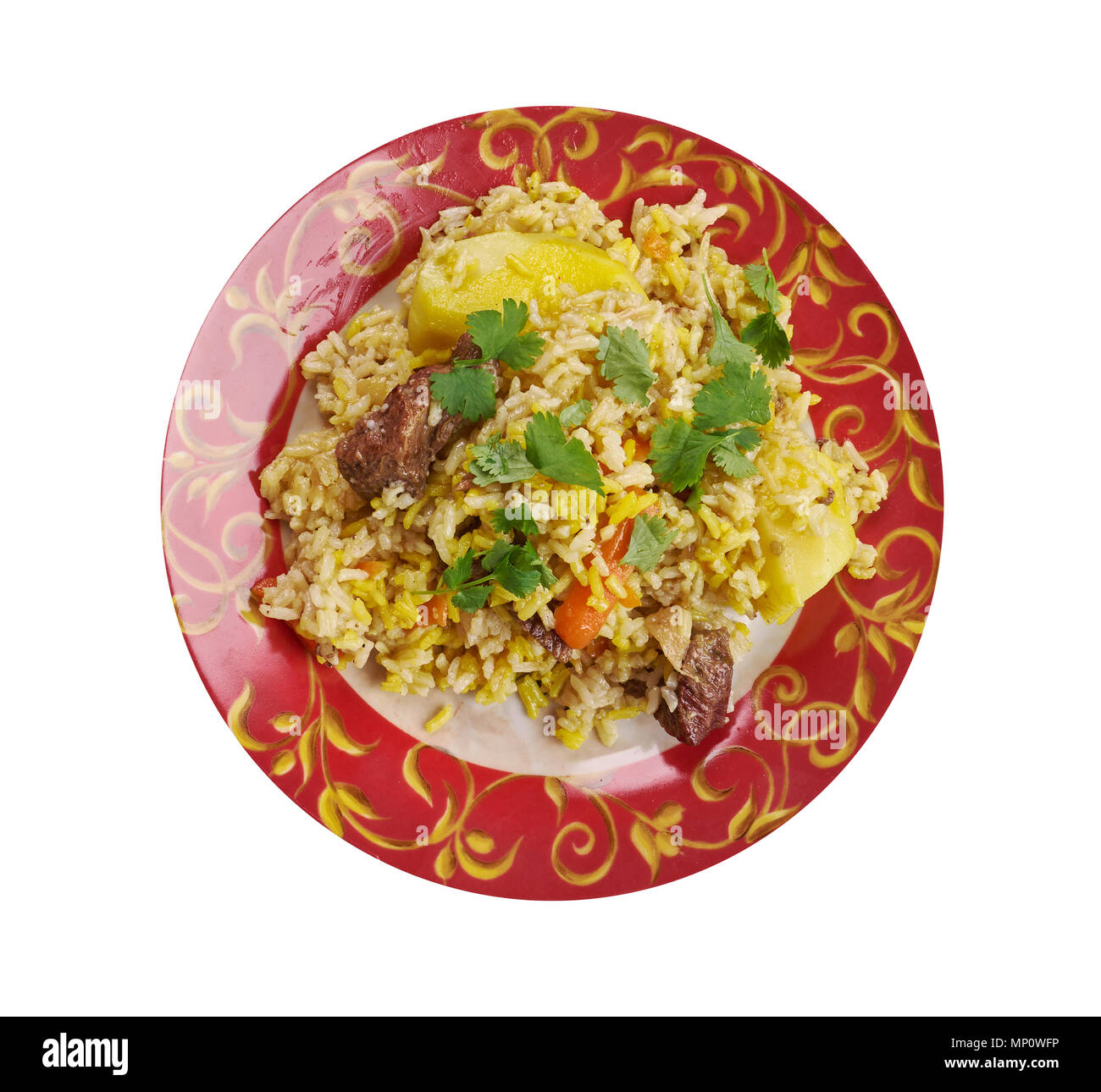 Surbiyaan - or zurbiyan is a type of Biryani that is popular in Yemen, other parts of the Arabian Peninsula Stock Photo