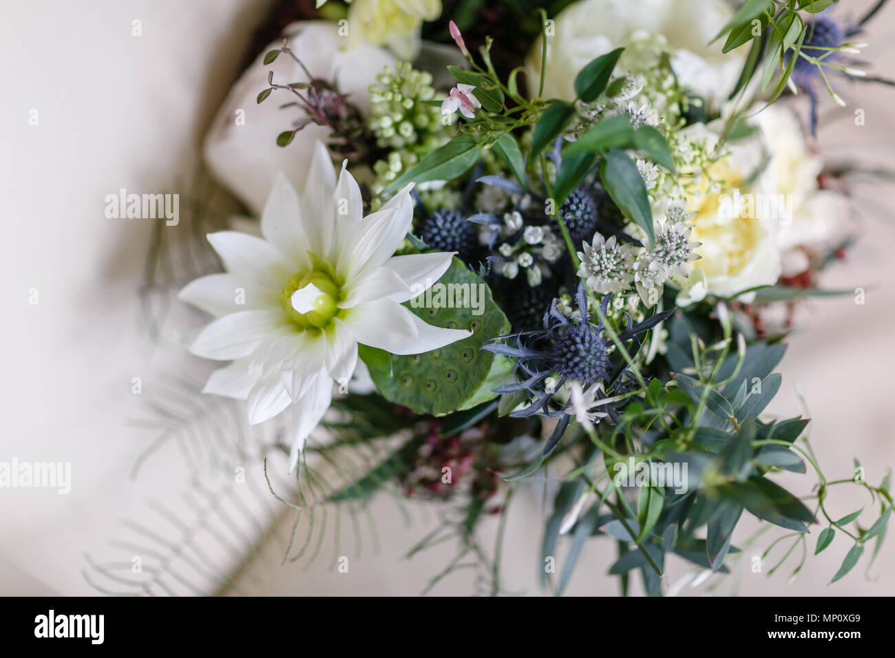Wedding Bouquet Different Flowers Modern Bridal Bunch With Poppy