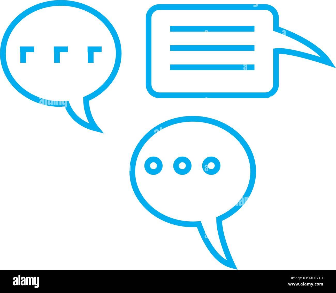 Employees' feedback linear icon concept. Employees' feedback line vector sign, symbol, illustration. Stock Vector