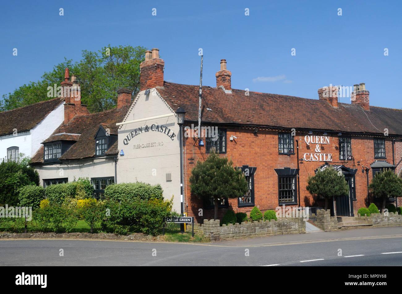 The Queen & Castle, in Kenilworth, Warwickshire, England - Stock Image