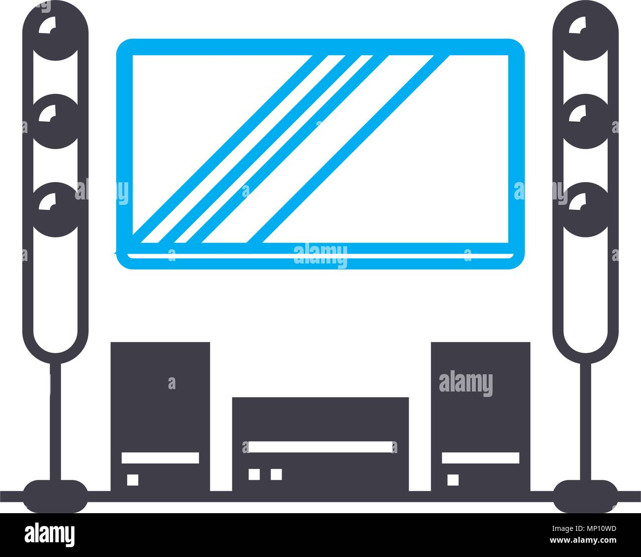 Home Movie Theater Stock Vector Images - Alamy