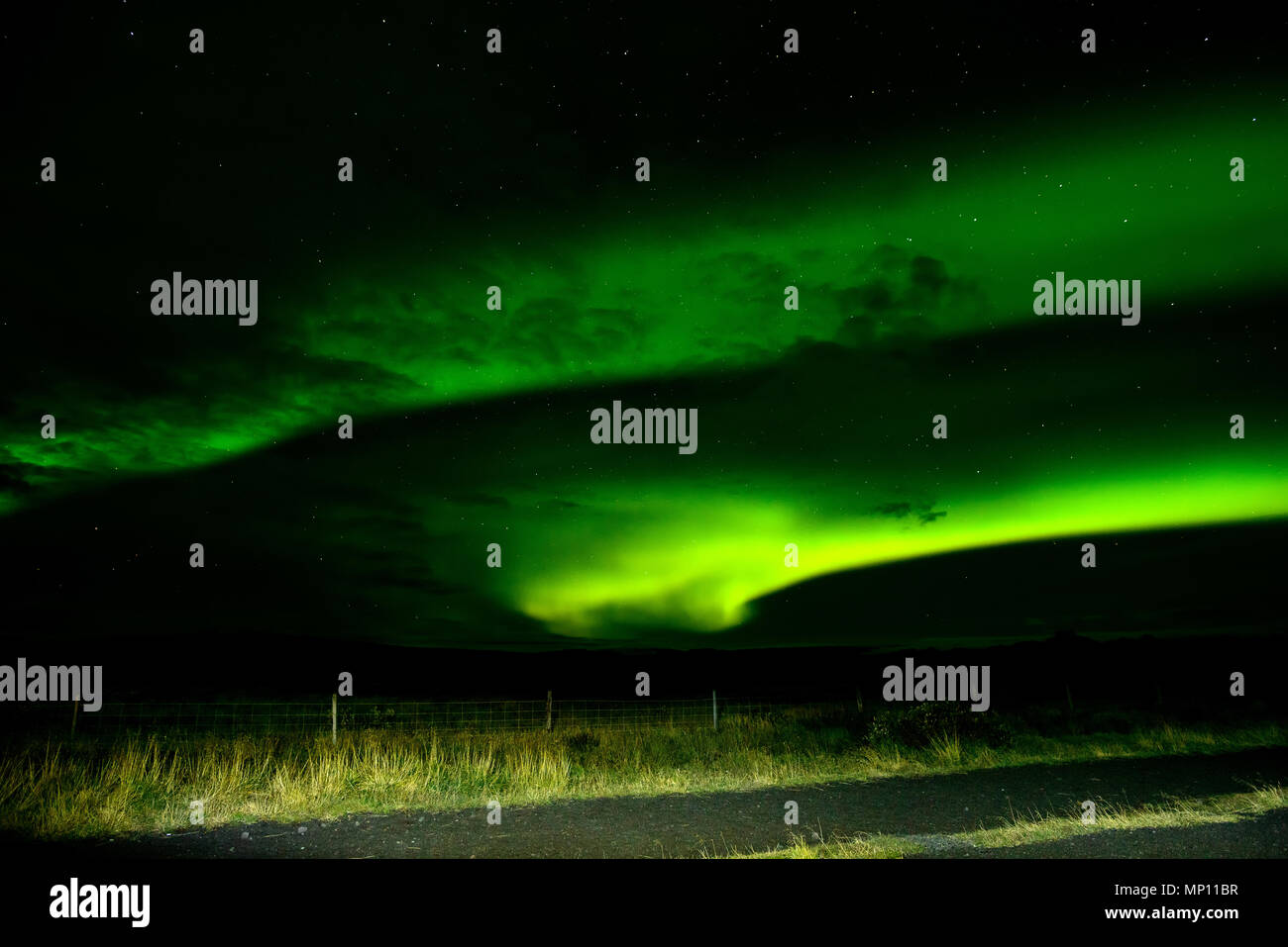 Amazing Northern Lights Over The Iceland Sky The Bright
