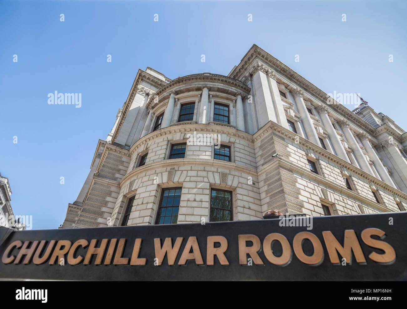 Imperial War Museum Churchill War Rooms, Westminster in London - Stock Image