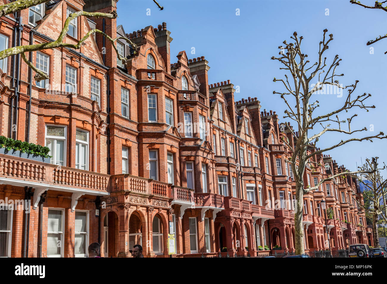 Sloane Gardens, exclusive area of London SW1W - Stock Image